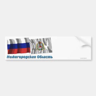 Rusia y Nizhniy Novgorod Oblast Pegatina Para Auto