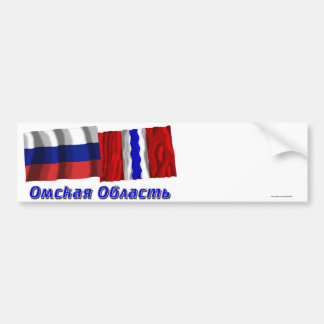 Rusia y Omsk Oblast Etiqueta De Parachoque