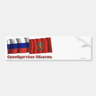 Rusia y Orenburg Oblast Etiqueta De Parachoque