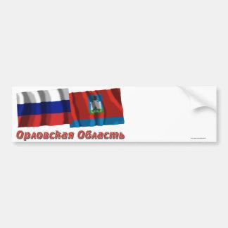 Rusia y Oryol Oblast Etiqueta De Parachoque