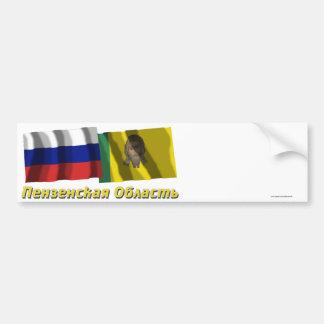 Rusia y Penza Oblast Pegatina De Parachoque