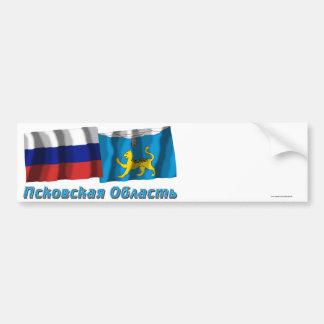 Rusia y Pskov Oblast Pegatina De Parachoque