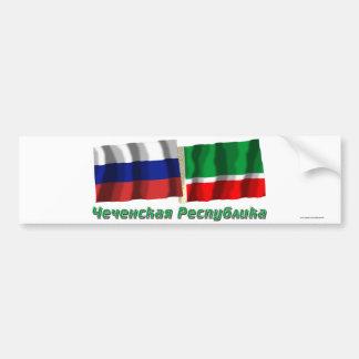Rusia y república chechena pegatina para auto