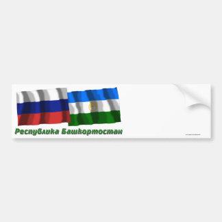 Rusia y república de Bashkortostan Pegatina Para Auto