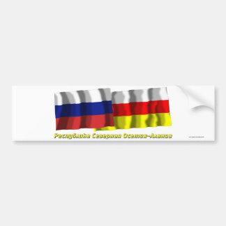 Rusia y república de Ossetia-Alania del norte Pegatina Para Auto