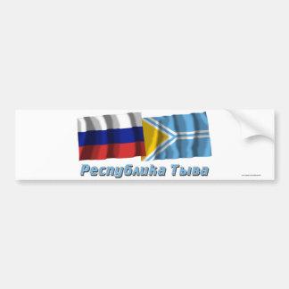 Rusia y república de Tyva Pegatina Para Auto