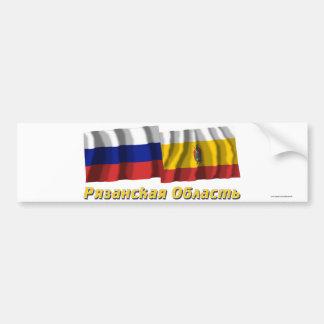 Rusia y Ryazan Oblast Pegatina De Parachoque