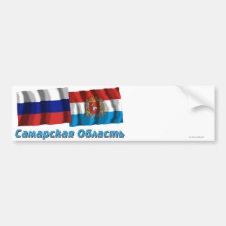 Rusia y Samara Oblast Etiqueta De Parachoque