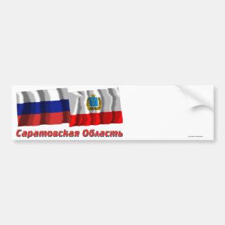 Rusia y Saratov Oblast Etiqueta De Parachoque