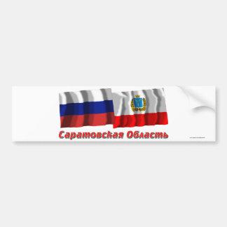 Rusia y Saratov Oblast Pegatina Para Auto
