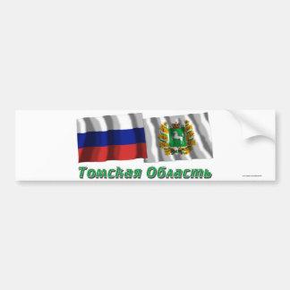 Rusia y Tomsk Oblast Etiqueta De Parachoque
