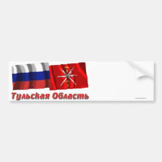 Rusia y Tula Oblast Etiqueta De Parachoque