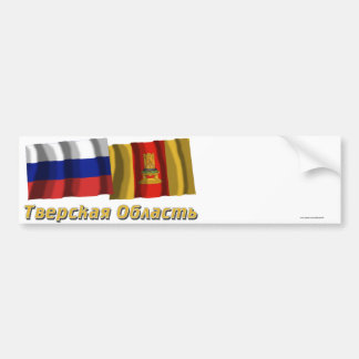 Rusia y Tver Oblast Etiqueta De Parachoque