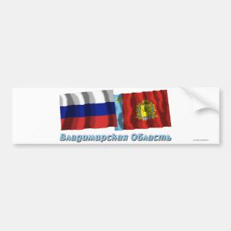 Rusia y Vladimir Oblast Pegatina De Parachoque