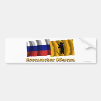 Rusia y Yaroslavl Oblast Pegatina Para Auto