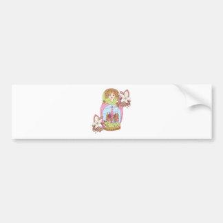 rusian moscow girl woman mosque colorfull bumper sticker