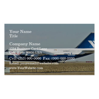 Ruslan plane in airport business cards