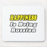 Ruso de la felicidad… alfombrillas de ratón
