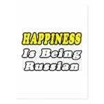 Ruso de la felicidad… postal