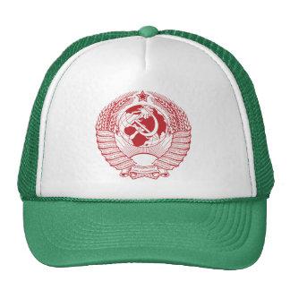 Ruso del vintage de la guirnalda del escudo de arm gorras de camionero