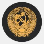 Ruso del vintage de la guirnalda del escudo de arm etiquetas redondas