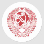 Ruso del vintage de la guirnalda del escudo de arm pegatina