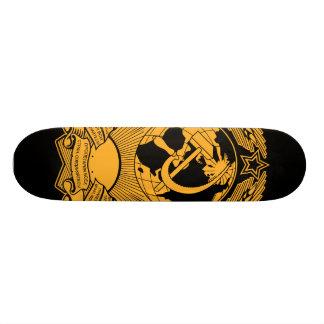 Ruso del vintage de la guirnalda del escudo de arm tabla de patinar