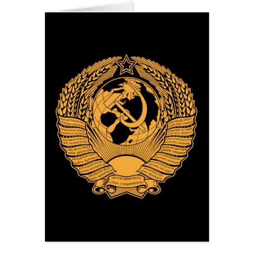 Ruso del vintage de la guirnalda del escudo de arm tarjeton