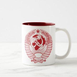 Ruso del vintage de la guirnalda del escudo de arm taza de café