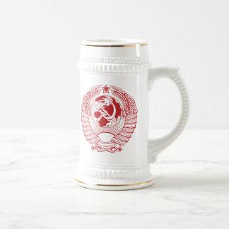 Ruso del vintage de la guirnalda del escudo de arm tazas de café