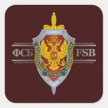 Ruso FSB Pegatina Cuadradas