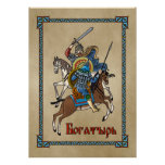 Ruso medieval Bogatyr Poster