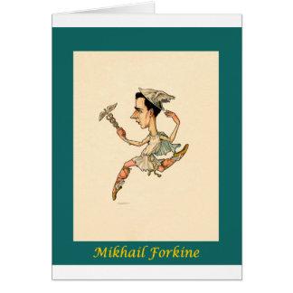 ~ ruso Mikhail Fokine de la caricatura del ballet Tarjeta De Felicitación