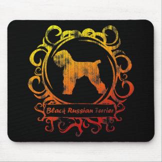 Ruso negro resistido con clase Terrier Tapete De Ratones