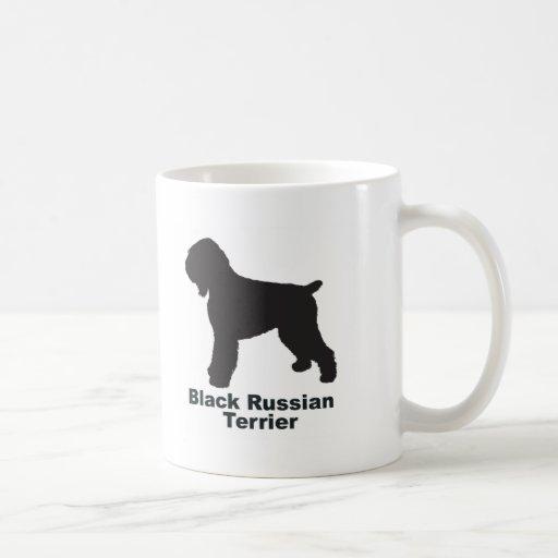Ruso negro Terrier Taza Básica Blanca