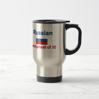 Ruso orgulloso taza de viaje