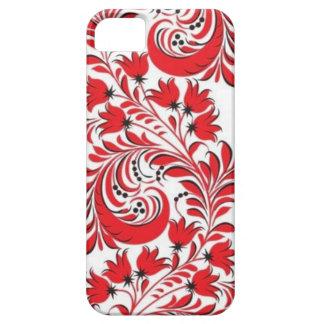 Ruso rojo Khokhloma iPhone 5 Carcasas