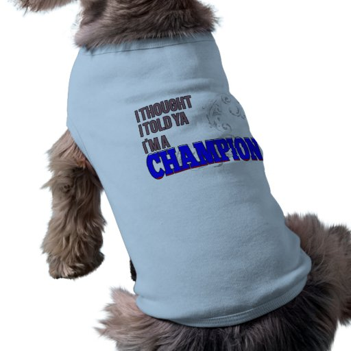 Ruso y un campeón camisetas de perrito