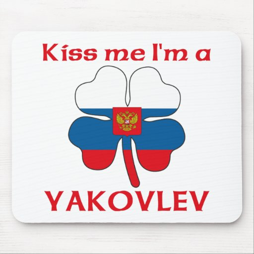 Rusos personalizada me besan que soy Yakovlev Tapetes De Ratón