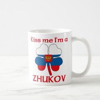 Rusos personalizada me besan que soy Zhukov Taza Básica Blanca
