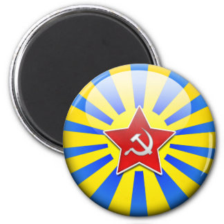 Russain Flag Air Force 2 Inch Round Magnet