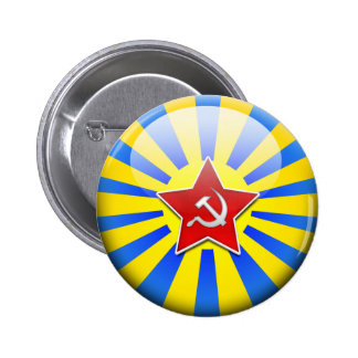 Russain Flag Air Force Pinback Button