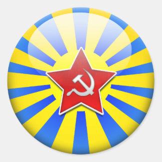 Russain Flag Air Force Round Sticker