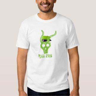Russe hodeskalle 2016 grønn t-skjorte tee shirt