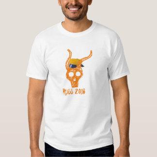 Russe hodeskalle 2016 oransje t-skjorte t-shirt