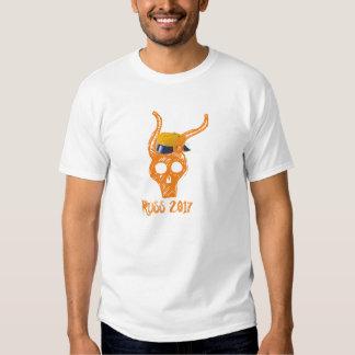Russe hodeskalle 2017 oransje t-skjorte t-shirt