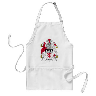 Russel Family Crest Adult Apron