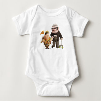 Russell and Carl from Disney Pixar UP! Baby Bodysuit