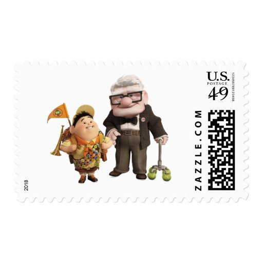 Russell and Carl from Disney Pixar UP! Postage