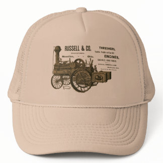 Russell and Company Steam Traction Engine Farm Trucker Hat